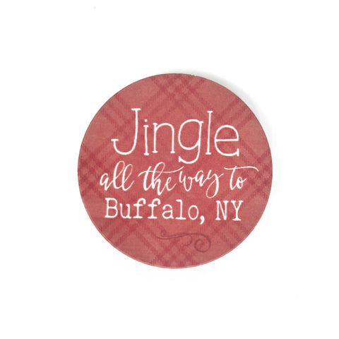 Jingle All The Way To Buffalo Car Coaster