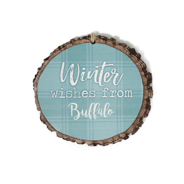 Winter Wishes From Buffalo Ornament