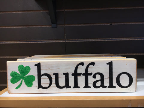 Irish Themed Wooden Sign White - Buffalo