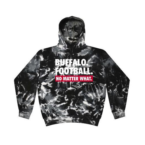 Buffalo Football Black Tie-Dye No Matter What Sweatshirt