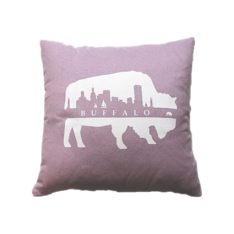 BFLO Pink Skyline Throw Pillow