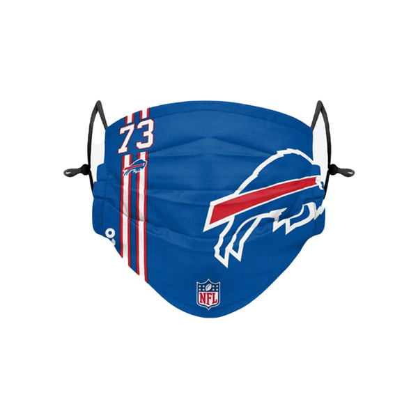 Buffalo Bills #73 On Field Pleated Face Covering