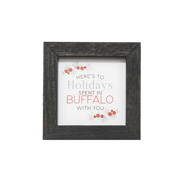 Here's To Holidays Framed Decor