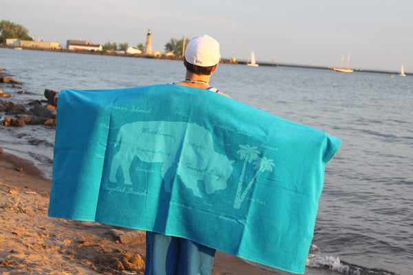 "Buffalo ""Beaches"" Towel"