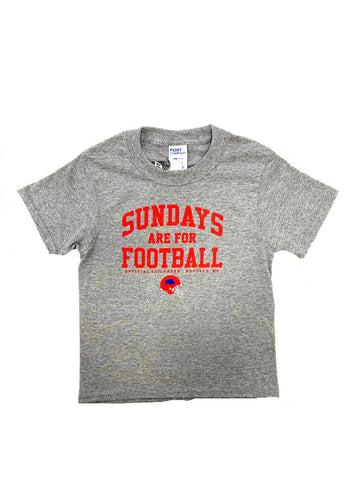 """Sundays are for Football"" Youth Short Sleeve T-Shirt"