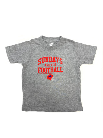 """Sundays are for Football"" Toddler Short Sleeve T-Shirt"