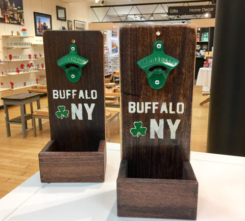 BFLO Irish Wooden Bottle Opener & Catcher