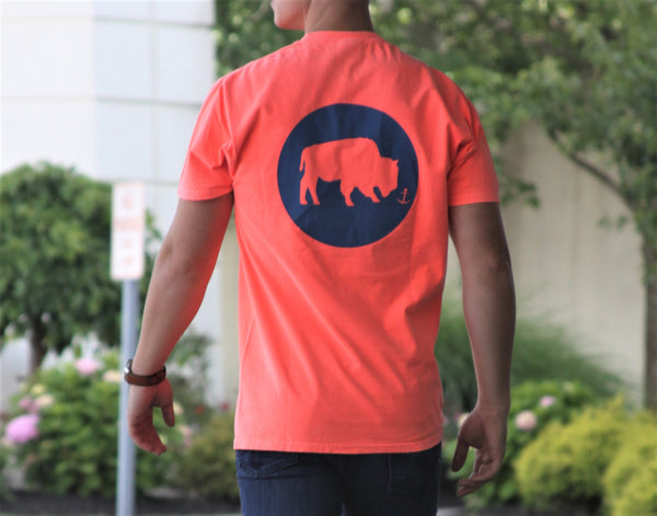 BFLO Lake Life Sunset Coral Tee-Shirt