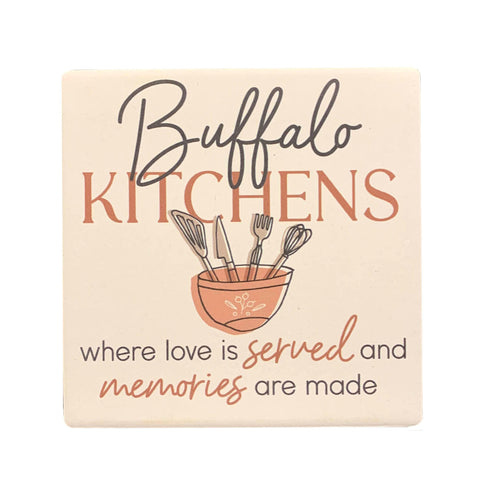 """Buffalo Kitchens..."" Ceramic Coaster"
