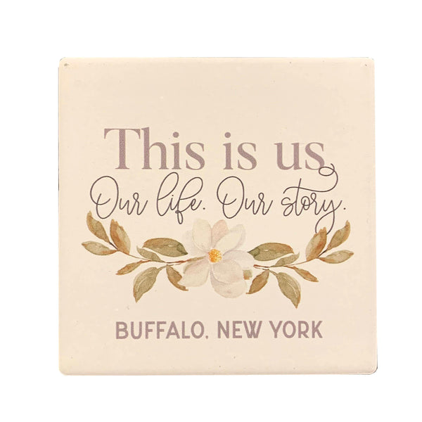 """This Is Us"" Ceramic Coaster"