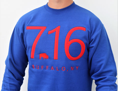 Embroidered 716 Crewneck Sweatshirt