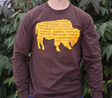 BFLO Fall Long Sleeve T-Shirt Brown