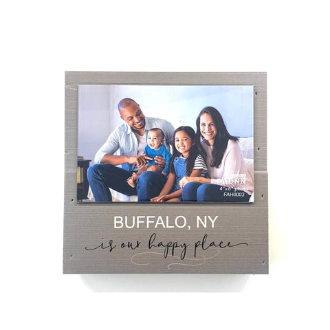 """Buffalo is Our Happy Place"" Photo Frame"