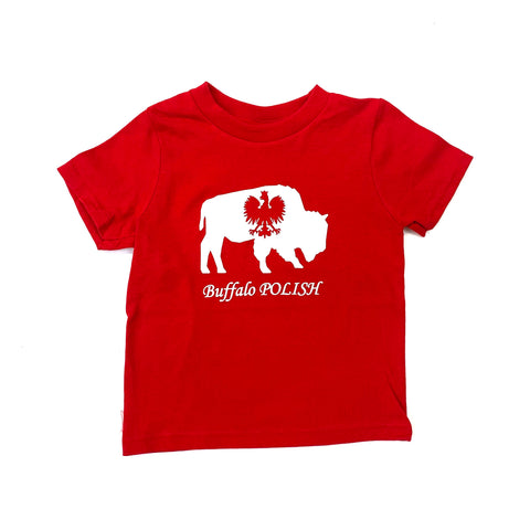 Toddler Red Buffalo Polish Short Sleeve T-Shirt