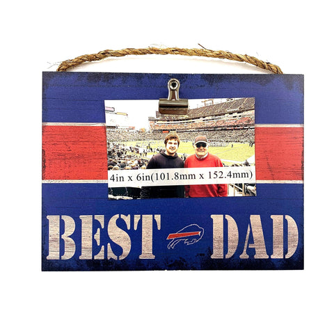 """Best Dad"" Buffalo Bills Photo Frame"