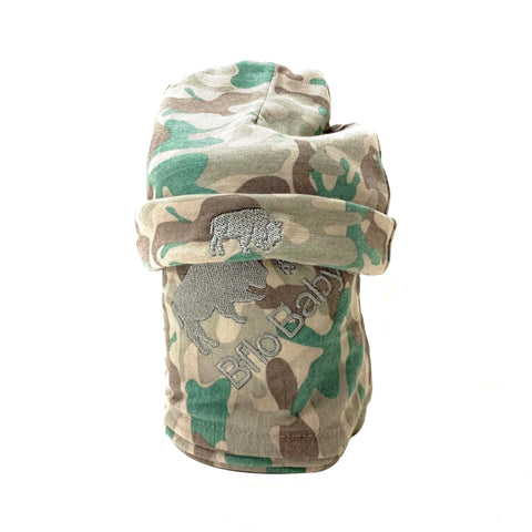 Camouflage Baby Swaddle and Hat Set