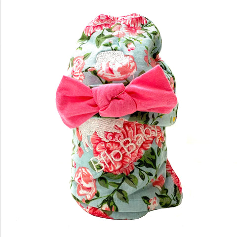 Carnation Baby Swaddle and Hat Set