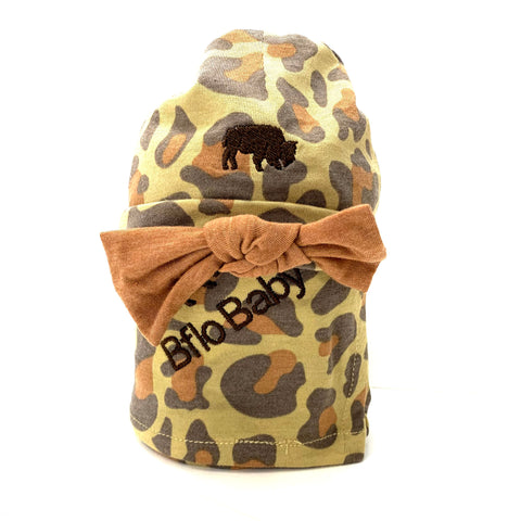 Leopard Baby Swaddle and Hat Set