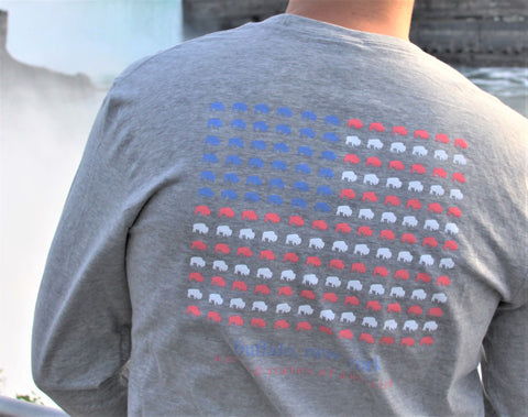 BFLO Long Sleeve Grey Americana Tee