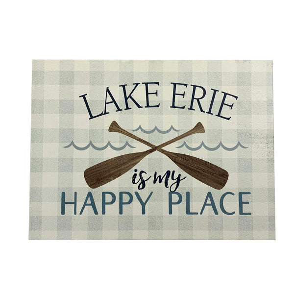 """Happy Place"" Wooden Sign"