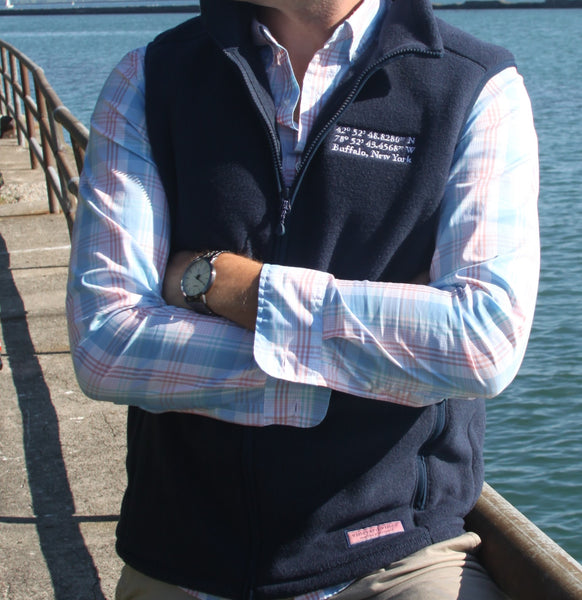 BFLO Vineyard Vines Custom Navy Harbor Vest