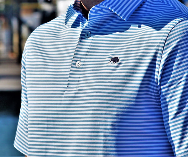 BFLO Vineyard Vines Custom Winstead Stankaty Blue Polo