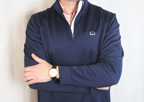 Vineyard Vines Buffalo Bay Navy Quarter Zip