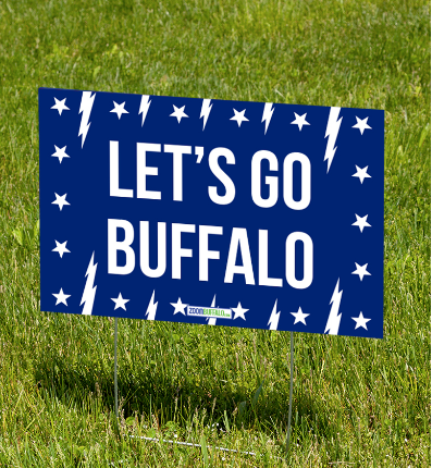 Let's Go Buffalo Yard Sign