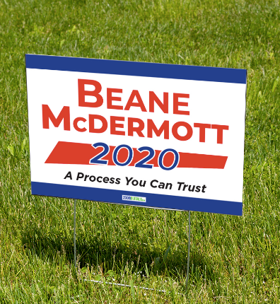 Beane McDermott 2020 Yard Sign