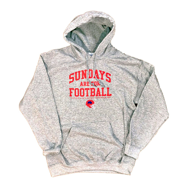 Sundays Are For Football Heather Ash BFLO Hoodie
