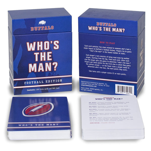 WHO'S THE MAN? Football Trivia Game
