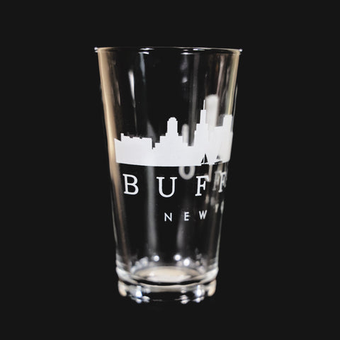 BFLO Skyline Pint Glass