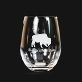 BFLO Buffalo NY Stemless Wine Glass