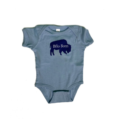 Light Blue BFLO Born Onesie