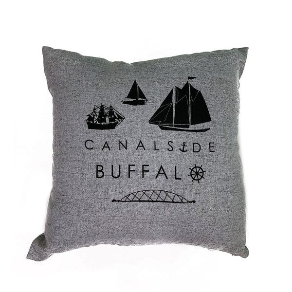 Canalside Buffalo Pillow