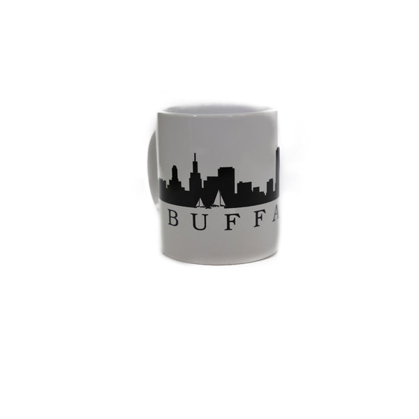 Buffalo Skyline White Mug