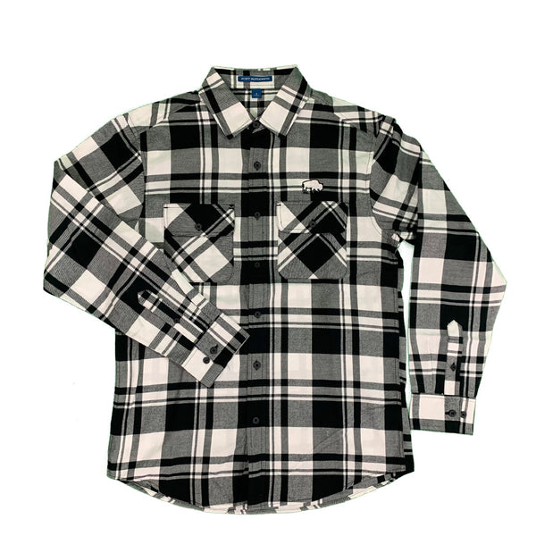 Buffalo Long Sleeve Black & White Flannel