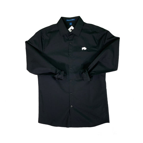 Slim Fit Black Buffalo Button Down