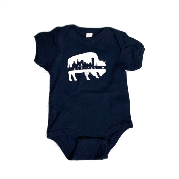 Onesie Buffalo with White Skyline