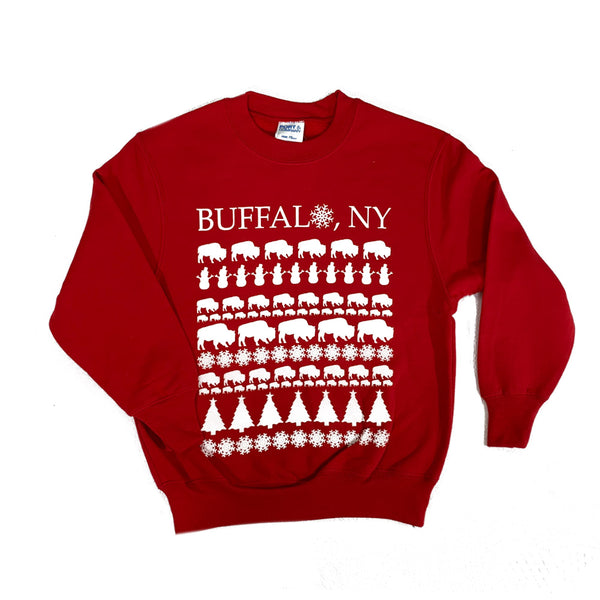 Red Youth Holiday Sweatshirt
