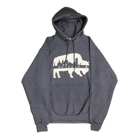 Heather Navy Buffalo Skyline Hoodie
