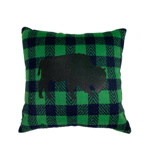 BFLO Plaid Pillow