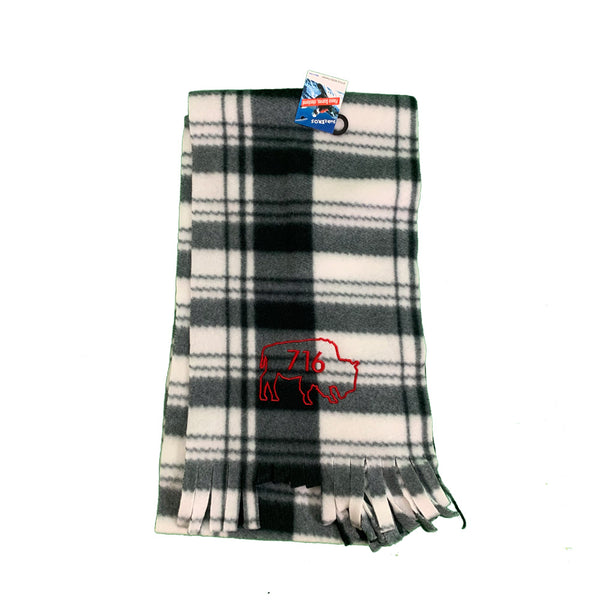 Black White & Red Fleece Scarf