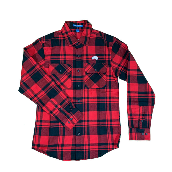 Buffalo Long sleeve Red & Black Flannel