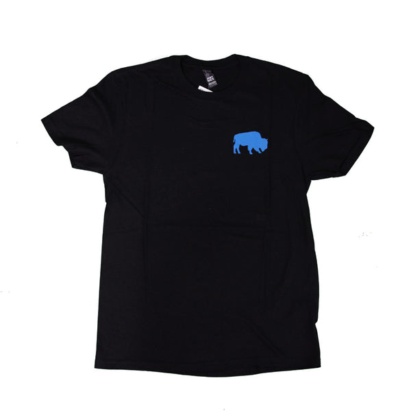 Black & Electric Blue Buffalo Tee