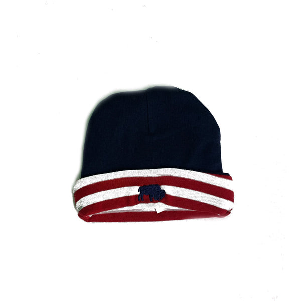 Red White and Navy Infant Knit Cap