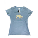BFLO Ladies Light Blue V-Neck Adirondack Tee-Shirt