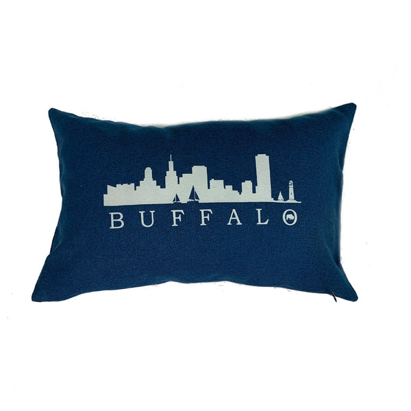 Blue Buffalo Skyline lumbar pillow