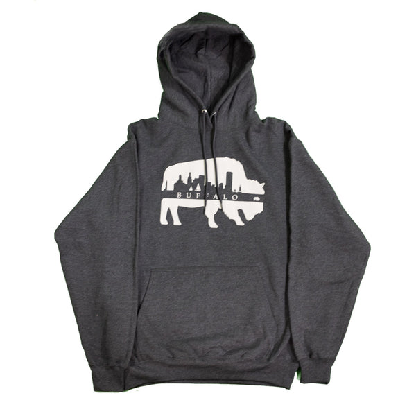 Heather Charcoal Skyline Hoodie