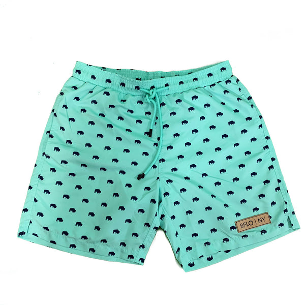 Seafoam BFLO Men's Swim Trunks